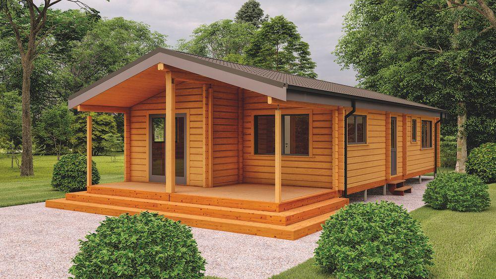 Premier Log Homes Hazel 2 bed mobile home