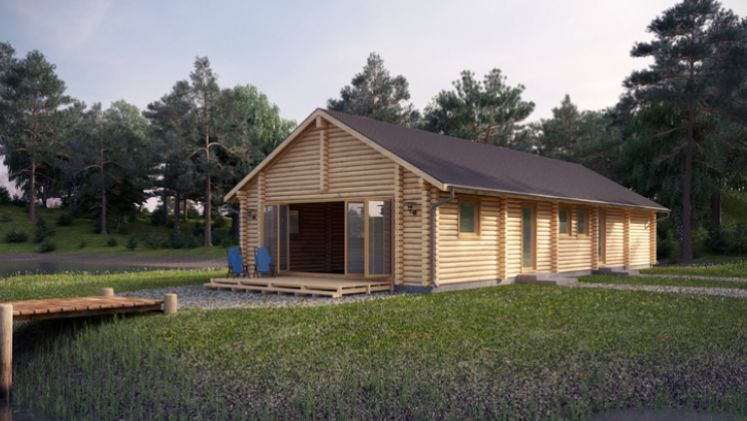 One of our cabins using computer aided design