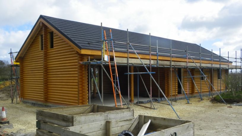 Whilst constructing the roof