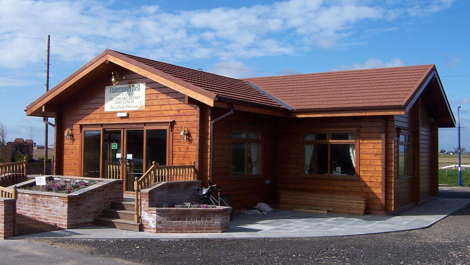 Premier Log Homes commercial log buildings cafeteria