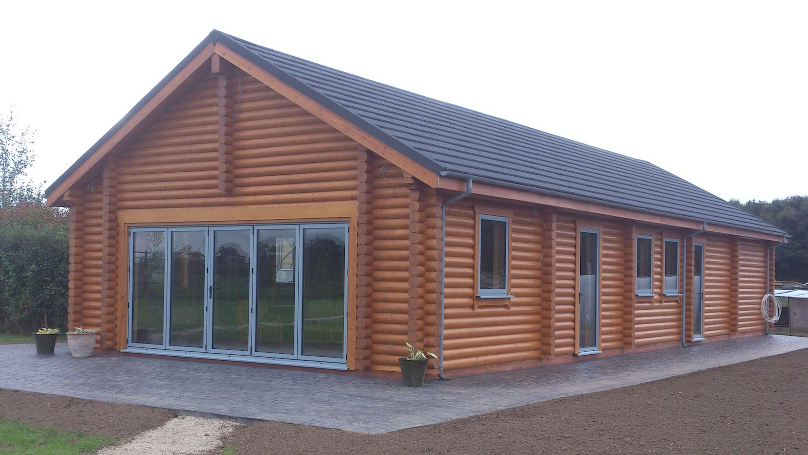 Premier Log Homes commercial log buildings Farm Office