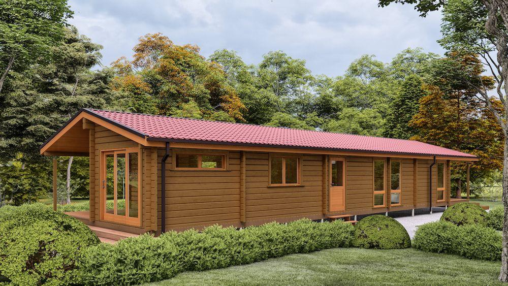 Premier Log Homes 4 bedroom mobile log home