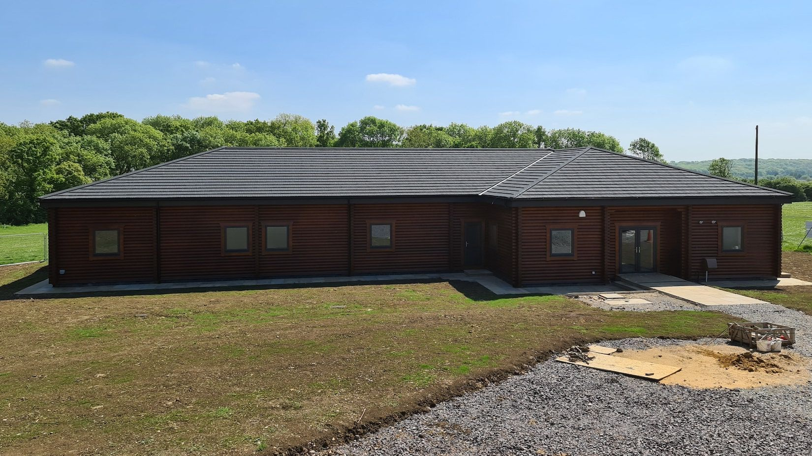 Premier Log Homes scout hut completed