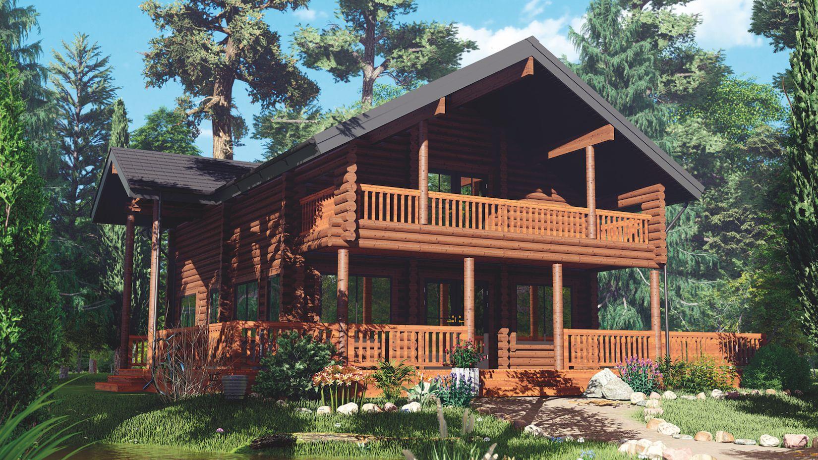 The Wrexham – 3 Bedroom, 1.5 Storey Log Home